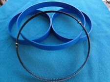 "3 BLUE MAX BAND SAW TIRES AND 1/4"" BAND SAW BLADE FOR 28-540 DELTA 16"" BAND SAW"