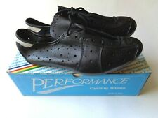 *Rare NOS Vintage 1970s PERFORMANCE Italian leather cycling shoes UK 8/EUR 42*