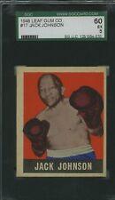 1948 Leaf #60 Jack Johnson Boxing Card SGC 5 EX