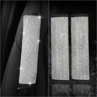 2* Car Accessories Bling Rhinestone Seat Belt Shoulder Protect Pad Cover Cushion