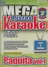 Paquita La Del Barrio Vol 1 Mega Pistas Karaoke DVD New Nuevo Sealed