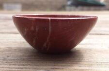 NATURAL BRECCIATED RED JASPER STONE HANDCARVED GEMSTONE BOWL [17]