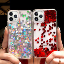 For iPhone 11 Pro Max Xs XR X 6s 7 8 Plus Cute Glitter Moving Liquid Soft Case