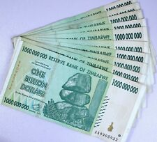 Zimbabwe 1 Billion Dollars ( 1,000,000,000 ) 2008, 10 Notes Pcs Bundle Lot, Cir.
