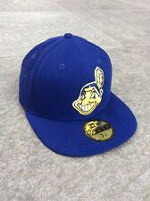NEW Era 59 FIFTY MLB Cleveland Indians UFFICIALE montato Cap-Blu Taglia 7 1/8