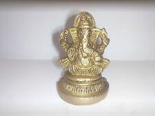 Small Ganesh Statue Hindu Ganesha God Elephant Lord Figurine Brass Ganpati Brass
