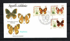 Nouvelle-Calédonie   enveloppe   faune  papillons    1990