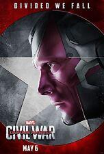 Captain America Civil War Movie Poster (24x36) - Paul Bettany, Vision v13