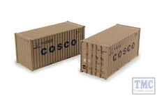 36-127 Bachmann OO 20ft Containers 'Cosco' (x2)