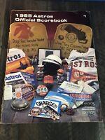 1985 Houston Astros Team Official Scorebook vs. Pirates Unscored