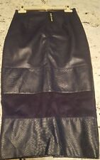 Size 6 Faux Leather High Waist Pencil  Skirt