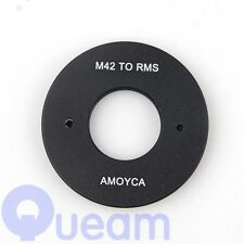 Pixco RMS Royal Microscopy Society Lens to M42 Camera Mount Adapter Ring Black