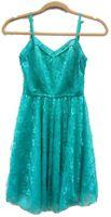Women's Delia's Teal Green Lace Sleeveless Dress Size 7-8 Regular