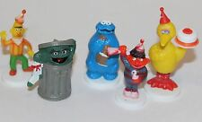 Vtg Sesame Street Cake Topper Decoration Figure Set Ernie Bert Cookie Bird Oscar