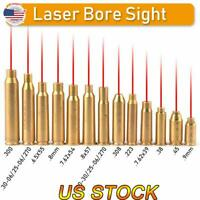 Red Dot Laser Boresighter Brass Cartridge Caliber Bore Sight Sighter Fit Hunting