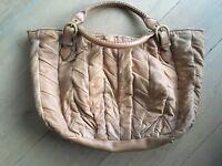 MIU MIU Handtasche Braun beige Damen Tasche Bag Sac Leder Leather Handtasche