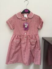 John Lewis Red Summer Uniform Girls Summer Dress Size 4 7 11 &12 Yrs 12 Years