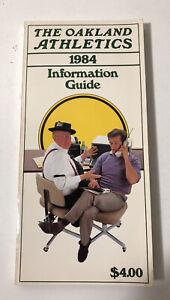 1984 Oakland Athletics Media/Information Guide Mint