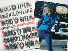 "Madonna 2 U.S. Promo Posters In One Listing: ""Music & American Life"""