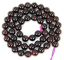 "Natural 8mm  Red Garnet Round Gemstone Loose Beads 15""L x-01"