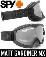Spy Optics Whip Motocross Mx Goggles Lado Oscuro Espejo De Plata Enduro Bicicleta Bmx Nueva