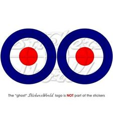 """RAF Royal AirForce TypeD Roundel 3"""" MOD Target Stickers"""