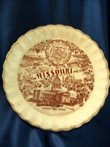 Vintage Collectible Plate Missouri The Show Me State Great Seal State Capitol