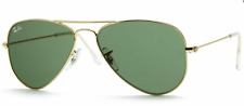 Ray-Ban Sunglasses Aviator Small Metal RB3044 L0207 52 Gold Green Classic G-15