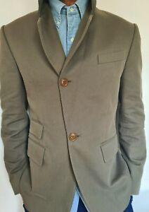 100% Original & New Vivienne Westwood Cotton Drill Jacket - olive, size 48, UK38