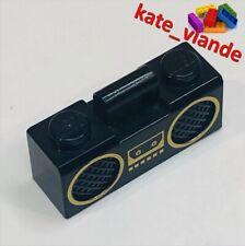 QTY x1 | (93221pb01) LEGO® BLACK GOLD MINIFIGURE BOOMBOX RADIO