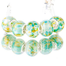 5pcs paint MURANO silver plated glass bead LAMPWORK For European Charm Bracelet