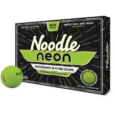 TAYLORMADE NOODLE NEON GOLF BALLS MATTE FINISH LIME GREEN - 1 DOZEN