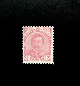Samoa SG 44a 1892 21/2d Pale Rose P 12x111/2 Mtd Mint