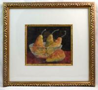 Susan Weiss Fruit Bowl Pears Painting Framed Matted Art EXCELLENT CONDITION