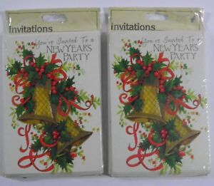 SEALED VINTAGE GIBSON NEW YEAR'S PARTY INVITATIONS INVITES 2 PACKS (10 EACH)