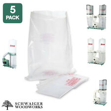 (5) Plastic Dust Collector Bags for Grizzly G0548ZP, G0562ZP, G1030Z2P, G1028Z2