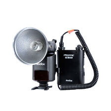 Godox WITSTRO Ad-360 Bare Tube Flash Speedlite Pb960 Battery Power Pack Orange