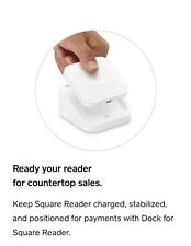 New listing White Square Credit Card Reader & Dock for Contactless and Chip