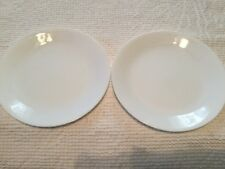 "SET 2 CORELLE WINTER FROST SOLID WHITE LUNCHEON LUNCH PLATES 8 3/4"" EUC more pcs"