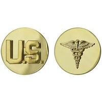 USA Army Enlisted Collar Device U.S.and Medical  NEW (Army Issue)  (Made in USA)