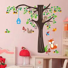 Birds Adesivi Murali Fox Tree Giungla Zoo asilo camera da letto Baby Decalcomania Decorazione Murale