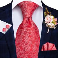 USA Classic Striped Polka Dot Black Mens Fashion Tie Necktie Set Silk Wedding