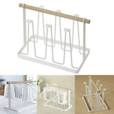 NEW Glass Cup Bottle Rack Water Mug Draining Drying Organizer Drain Holder Stand