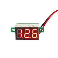1/2/5PCS DC 4.7V~32V Mini Red LED 3-Digital Panel Voltmeter Voltage Meter Tester