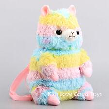 Rainbow Alpaca Alpacasso Plush Backpack Soft Stuffed Animal Bag 17'' Doll Toy