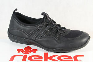 Rieker Slippers Sneakers Low Shoes Sports Shoes Black N5250 New