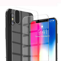 2 Pcs 9H Front+Back Tempered Glass Film Screen Protector for iPhone XS Max/XR