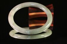 51.93mm 100% Natural Rare Jadeite Jade Bangle TRICOLOR WHITE LAVENDER GREEN B153