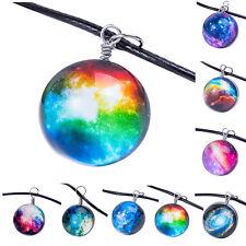 Fashion Galaxy Necklaces Nebula Space Glass Cabochon Pendants Jewelry 8 Styles