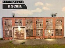 "G Scale Scratch Built "" INDUSTRIAL #1 "" Factory Building Flat LED 1/24 1/32"